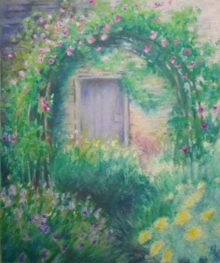 secret garden oil pastel