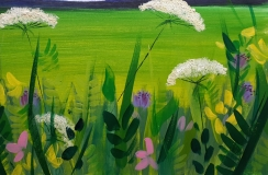 Summer Meadow in Acrylics